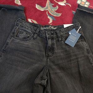 Black denim washed jeans